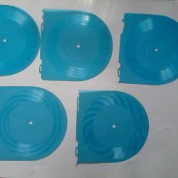 5 броя грамофонни плочи в син прозрачен цвят