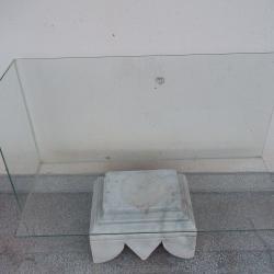Декоративна стъклена конзола поставка етажерка