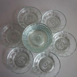 Стъклени десертни чинийки  -  12 бр.