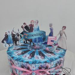 Картонена  хартиена торта на тема  Frozen II