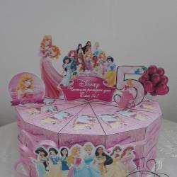 Картонена хартиена торта Принцеси