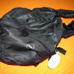 Раница черна Pash, от плат, нова, унисекс