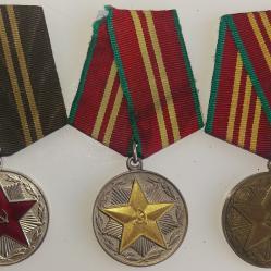 Медали  Вооруженные силы Ссср 10, 15, 20 лет