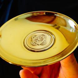 Гръцка чиния със сребро 925.
