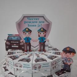 Картонена хартиена торта Полиция