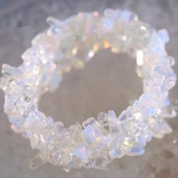 Ново Гривна с естествени камъни - Опал