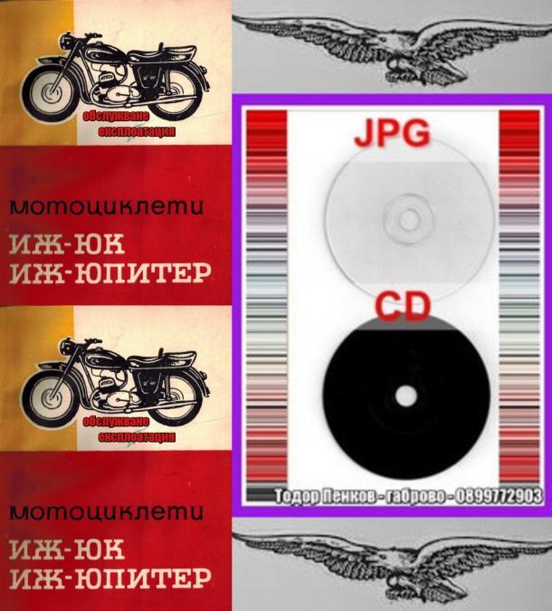 Мотоциклет ИЖ -ЮК ИЖ -юпитер техн документация на диск CD Бг език