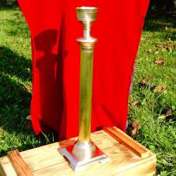 Старинен свещник от месинг, 39 см.
