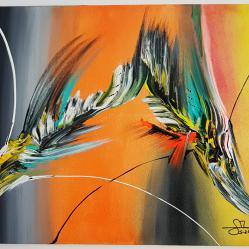 Абстрактна картина Paafugl норв.  паун