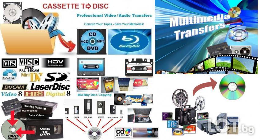 Видео конвертиране NTSC PAL, видео прехвърляне HQ HD, DVD, DV, VHS, Vi ...