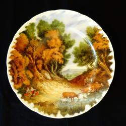Авторска чиния, плато, пано, китайски порцелан.