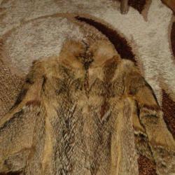 Дамско палто, кожух - естествен косъм от чакал