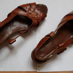 Испански кожени сандали 40