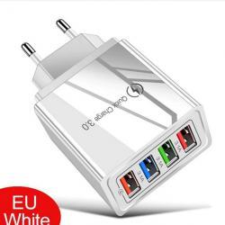 Бързо USB зарядно за телефон 3 а QC 3.0 и 4 USB изхода