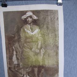 Стара картина, акватинта