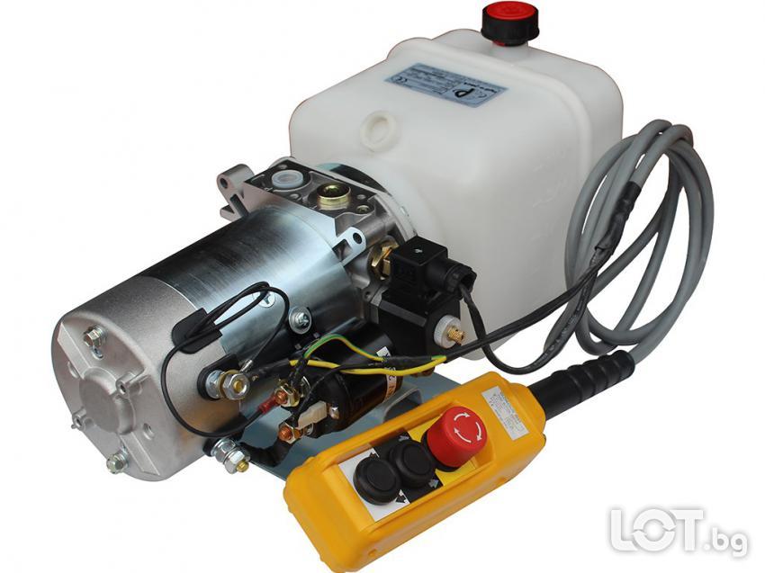 Хидравлична Помпа Хидромотори електродвигатели 12 и 24в. цилиндри