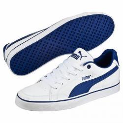 Ликвидациниски кожени кецове Puma Court Point Vulc Бяло Синьо 46 номер