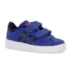 Намаление  Бебешки маратонки Adidas VL Court Синьо Бяло Черно