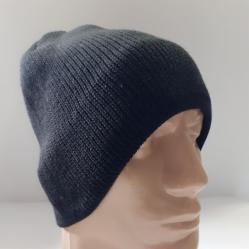 Мъжка плетена шапка 6 черна