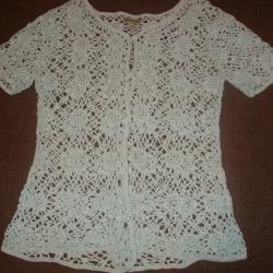 Плетена лятна блуза на една кука