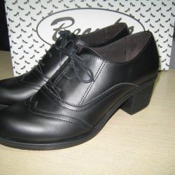 Дамски обувки м. 899 естествена кожа черни
