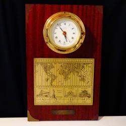 Западно Германски корабен часовник, карта за световно време по Гринуич..