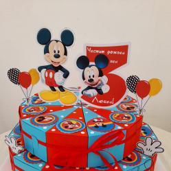 Картонена хартиена торта Мики Маус