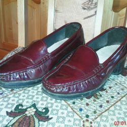 Обувки дамски от естествена кожа тип мокасини