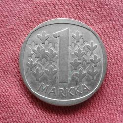 1 маркка 1966 г. Финландия - Сребро