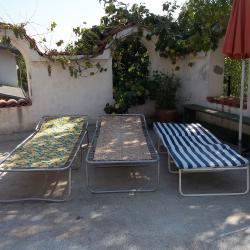 Шезлонг сгъваемо походно легло за къмпинг градина риболов.
