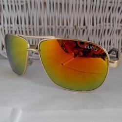 003 Слънчеви очила, ретро форма, мъжки модел.