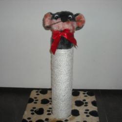 Скретчер-драскалка Мишка - 12лв размери 30 30 44cm,