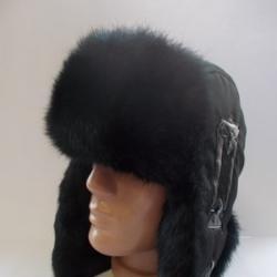 Мъжка ушанка калпак заешки косъм-38