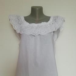 Лятна бяла блузка, 100% памук