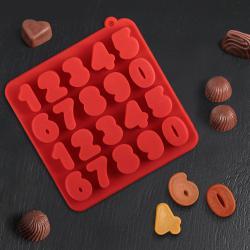 2412 Силиконова форма за бонбони и лед Цифри