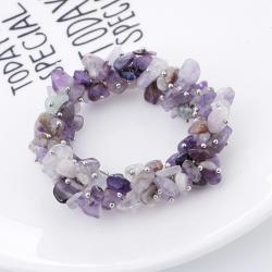 Ново Гривна подарък пръстен с полускъпоценни камъни - аметисти