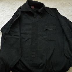 Черен вълнен пуловер р - р ХL
