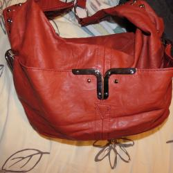 Кафява чанта тип торба, нова