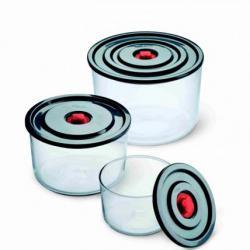 Комплект от 3 бр. съдове за фризер с пластмасови капаци Simax