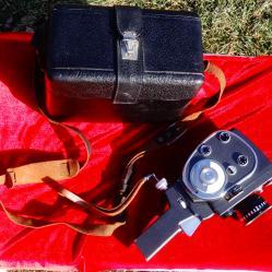 Луксозна кино камера с кожена чанта.