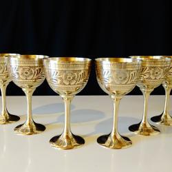 Британска Индия, клетъчен емайл бронзова чаша, бокал.