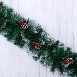 2488 Коледен гирлянд с декорация шишарки и плодове, 270см