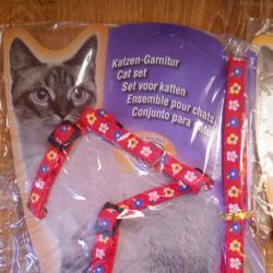 Нагръдник с повод за котки, фретки порчета и малки кученца