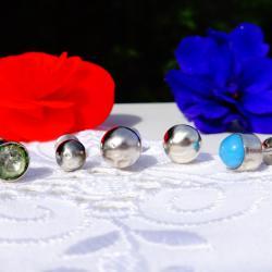 Сребърни обеци с винтче.