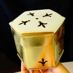 Кутия от месинг с тамплиерски символи.