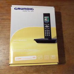 Стационарен безжичен Дект Dect телефон Грундиг Grundig Illion 1 Black