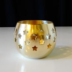Месингов свещник звезди, маркиран.