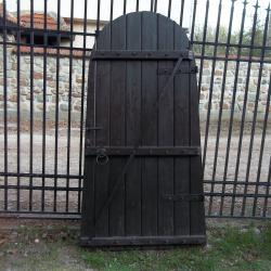Масивна декоративна сводеста врата