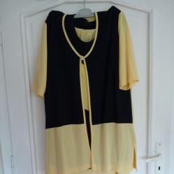 Дамски комплект от трико - пола, блуза и горнище