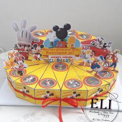 Картонена хартиена торта Клуб Мики Маус